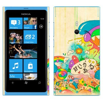 Виниловая наклейка «Mad Rainbow» на телефон Nokia Lumia 800