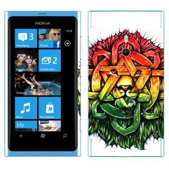 Виниловая наклейка «Абстрактный лев» на телефон Nokia Lumia 800