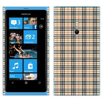 Виниловая наклейка «Барберри клетка» на телефон Nokia Lumia 800