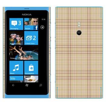 Виниловая наклейка «Бежевая клетка» на телефон Nokia Lumia 800