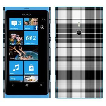 Виниловая наклейка «Черно-белая клеточка» на телефон Nokia Lumia 800