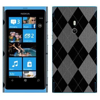 Виниловая наклейка «Черно-серые ромбы» на телефон Nokia Lumia 800