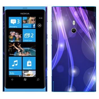 Виниловая наклейка «Фиолетово-синие цветные переливы» на телефон Nokia Lumia 800