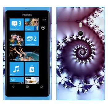 Виниловая наклейка «Фрактал-улитка» на телефон Nokia Lumia 800