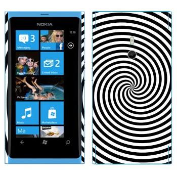 Виниловая наклейка «Гипнотизирующая спираль» на телефон Nokia Lumia 800