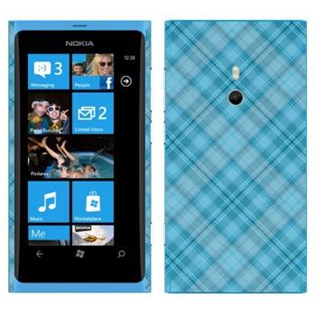 Виниловая наклейка «Голубая клетка» на телефон Nokia Lumia 800