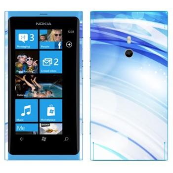 Виниловая наклейка «Голубые линзы» на телефон Nokia Lumia 800