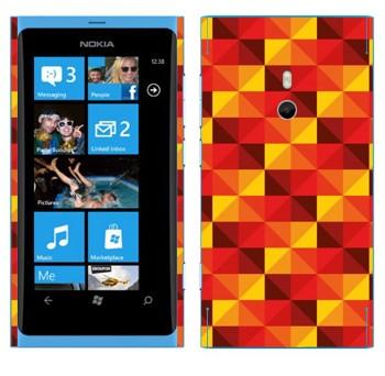 Виниловая наклейка «Желто-красные пирамидки» на телефон Nokia Lumia 800