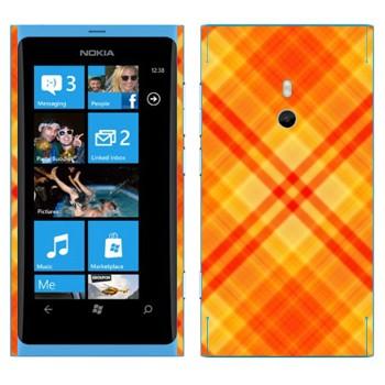 Виниловая наклейка «Желто-оранжевые полосы» на телефон Nokia Lumia 800