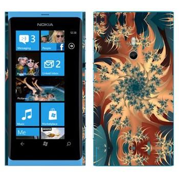 Виниловая наклейка «Калейдоскоп карусель» на телефон Nokia Lumia 800