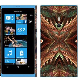 Виниловая наклейка «Калейдоскоп лес» на телефон Nokia Lumia 800