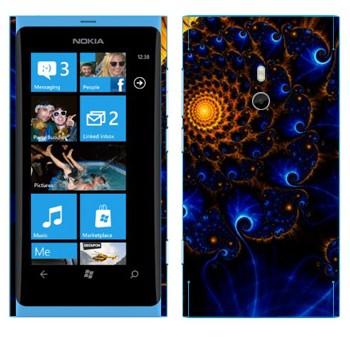 Виниловая наклейка «Калейдоскоп Солнечная система» на телефон Nokia Lumia 800