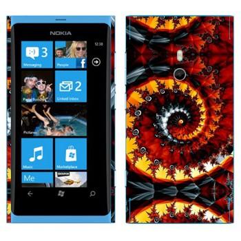 Виниловая наклейка «Калейдоскоп спиральный осенние листья» на телефон Nokia Lumia 800