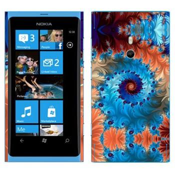 Виниловая наклейка «Калейдоскоп спиральный узор» на телефон Nokia Lumia 800