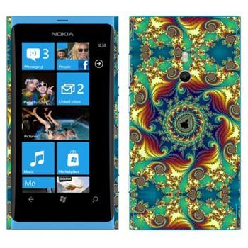 Виниловая наклейка «Калейдоскоп цветной» на телефон Nokia Lumia 800