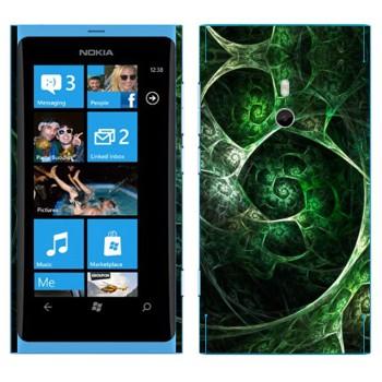 Виниловая наклейка «Калейдоскоп зеленая пещера» на телефон Nokia Lumia 800