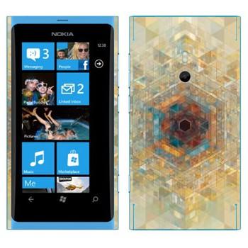 Виниловая наклейка «Калейдоскоп» на телефон Nokia Lumia 800