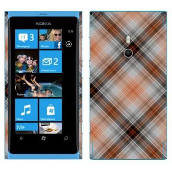 Виниловая наклейка «Клеточки коричневые» на телефон Nokia Lumia 800