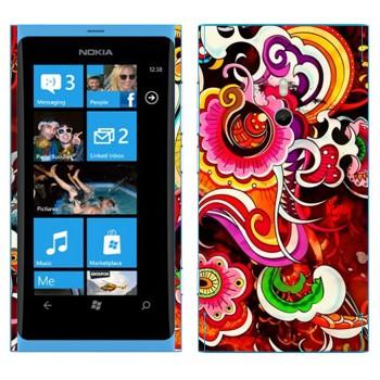Виниловая наклейка «Красивый разноцветный узор» на телефон Nokia Lumia 800