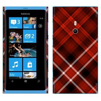 Виниловая наклейка «Красно-белая клетка» на телефон Nokia Lumia 800