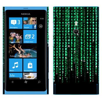Виниловая наклейка «Матрица» на телефон Nokia Lumia 800