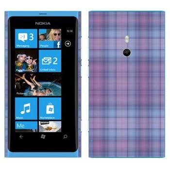 Виниловая наклейка «Мелкая фиолетовая клетка» на телефон Nokia Lumia 800