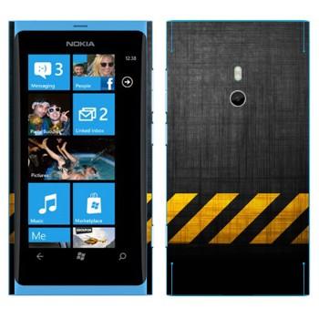 Виниловая наклейка «Опасная зона» на телефон Nokia Lumia 800