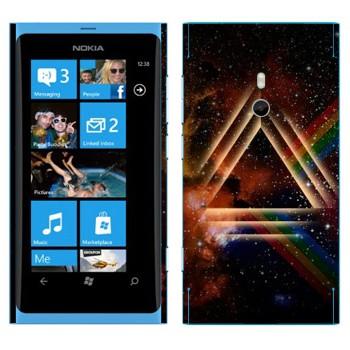 Виниловая наклейка «Призма в космоме» на телефон Nokia Lumia 800