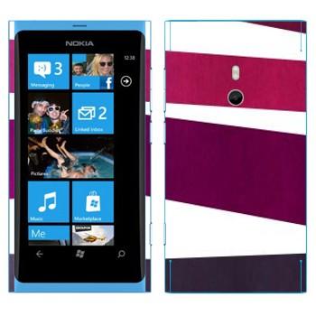 Виниловая наклейка «Пурпурная, фиолетовая, серая полосы» на телефон Nokia Lumia 800