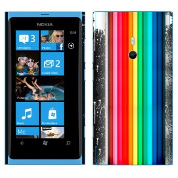 Виниловая наклейка «Радуга и пятна» на телефон Nokia Lumia 800