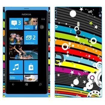 Виниловая наклейка «Радужная абстракция» на телефон Nokia Lumia 800