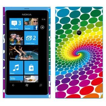 Виниловая наклейка «Радужный водоворот» на телефон Nokia Lumia 800