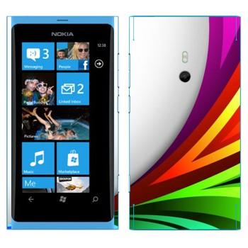 Виниловая наклейка «Радужный всплеск» на телефон Nokia Lumia 800