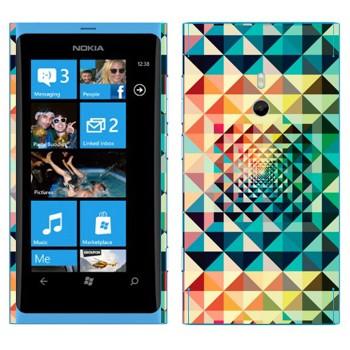 Виниловая наклейка «Разноцветная геометрия» на телефон Nokia Lumia 800
