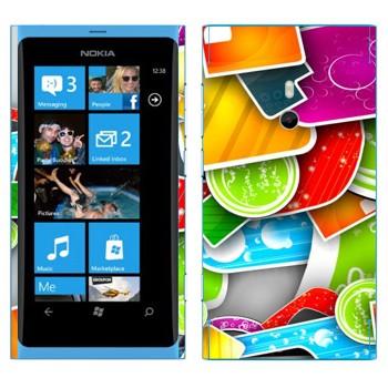 Виниловая наклейка «Разноцветная мозаика» на телефон Nokia Lumia 800