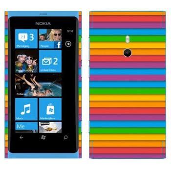 Виниловая наклейка «Разноцветный сайдинг» на телефон Nokia Lumia 800
