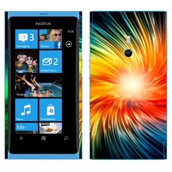 Виниловая наклейка «Разноцветный взрыв» на телефон Nokia Lumia 800