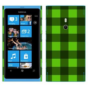 Виниловая наклейка «Салатовые и зеленые клеточки» на телефон Nokia Lumia 800