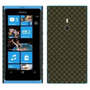 Виниловая наклейка «Серая клетка» на телефон Nokia Lumia 800