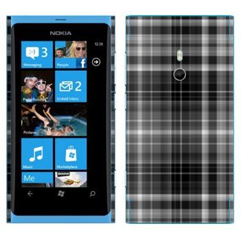 Виниловая наклейка «Серо-черные клеточки» на телефон Nokia Lumia 800