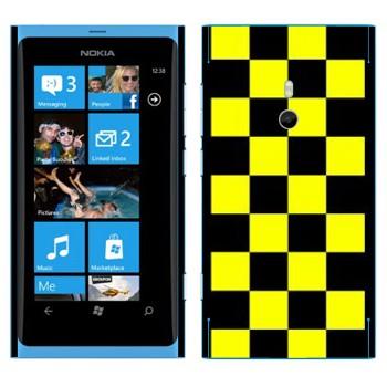 Виниловая наклейка «Шашки для такси» на телефон Nokia Lumia 800
