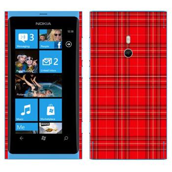 Виниловая наклейка «Шотландская клетка» на телефон Nokia Lumia 800