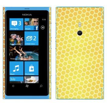 Виниловая наклейка «Соты пчелиные» на телефон Nokia Lumia 800