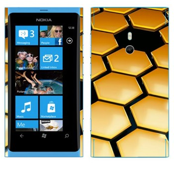 Виниловая наклейка «Соты техно стиль» на телефон Nokia Lumia 800