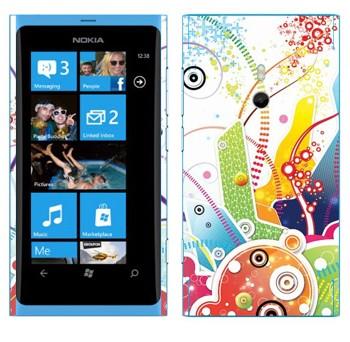 Виниловая наклейка «Цветная фантазия» на телефон Nokia Lumia 800