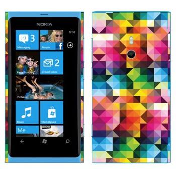 Виниловая наклейка «Цветная геометрия» на телефон Nokia Lumia 800