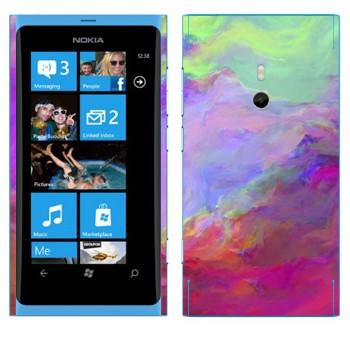 Виниловая наклейка «Цветные грозовые облака» на телефон Nokia Lumia 800