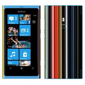 Виниловая наклейка «Цветные вертикальные линии» на телефон Nokia Lumia 800
