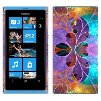 Виниловая наклейка «Цветочные фракталы» на телефон Nokia Lumia 800