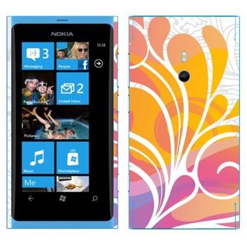 Виниловая наклейка «Цветок красочный» на телефон Nokia Lumia 800